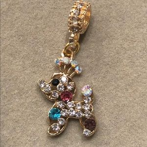 Jewelry - NEW•Poodle crystal DIY gold tone charm🐩